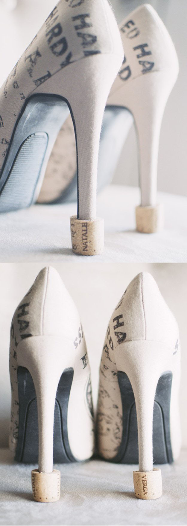 DIY Wine Cork Crafts for Easy Wedding Shoe Ideas - Wine Cork Shoe Savers - DIY Projects & Crafts by DIY JOY #crafts