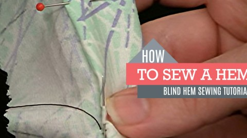 How to Sew a Blind Hem Stitch | DIY Joy Projects and Crafts Ideas