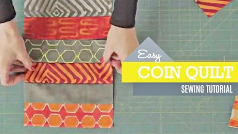 Combine Your Favorite Fabrics To Create The Perfect Coin Quilt | DIY Joy Projects and Crafts Ideas