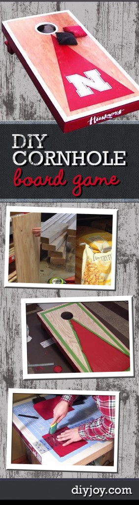 Awesome Crafts for Men and Manly DIY Project Ideas Guys Love - Fun Gifts, Manly Decor, Games and Gear. Tutorials for Creative Projects to Make This Weekend   Fun Outdoor DIY Ideas - DIY Cornhole Board Game Tutorial   http://diyjoy.com/diy-projects-for-men-crafts