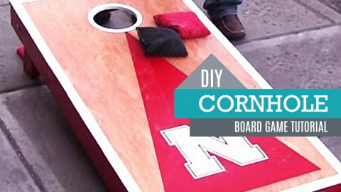 How to Make Cornhole Boards   DIY Joy Projects and Crafts Ideas