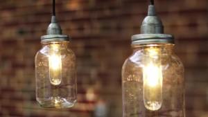 DIY Mason Jar Pendant Lights