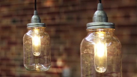 Diy mason jar pendant lights mozeypictures Images