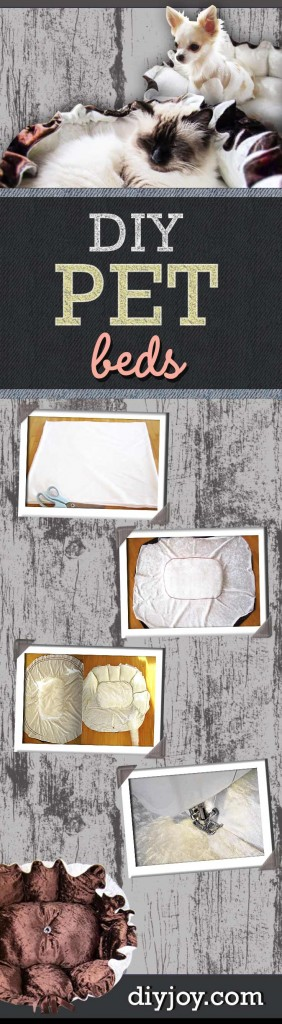 DIY Pet Beds - Super Sewing Project Idea for Pet Lovers - Fluffy DIY Pet Bed for Dogs and Cats