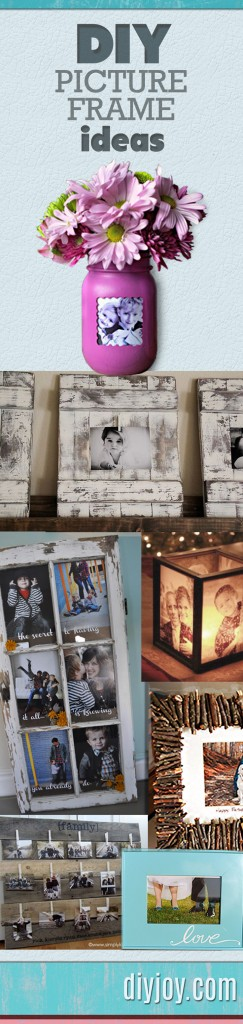 DIY Picture Frame Ideas - Best Creative Home Decor Projects Pinterest | DIY JOY crafts  at http://diyjoy.com/craft-ideas-diy-picture-frames