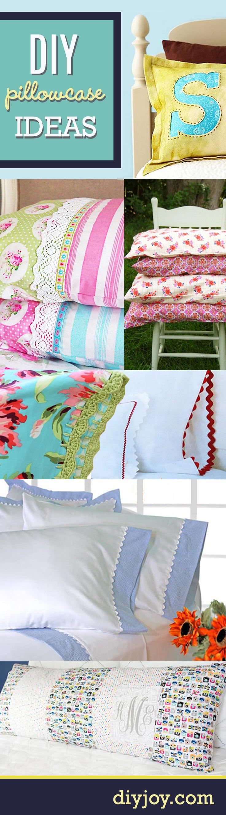 14 DIY Pillowcases : Sewing Tutorials