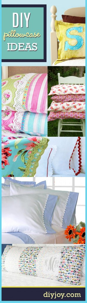 Sewing Projects for The Home - DIY Pillowcase Ideas Pinterest | DIY JOY at http://diyjoy.com/sewing-projects-diy-pillowcases-ideas