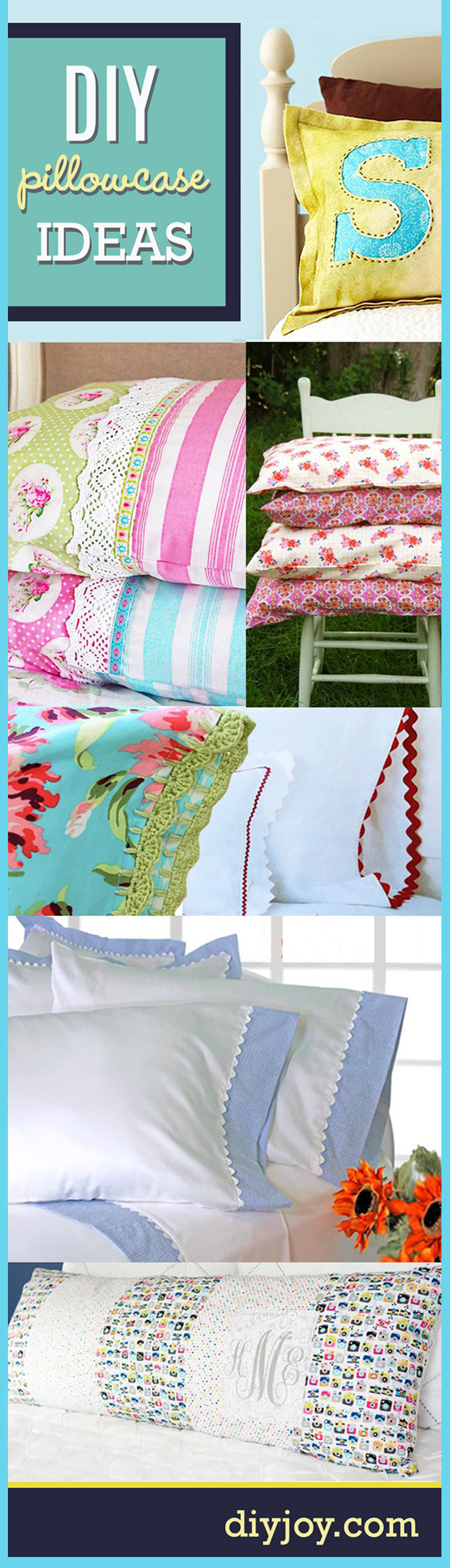 Sewing Projects For The Home Diy Pillowcase Ideas Diy Joy