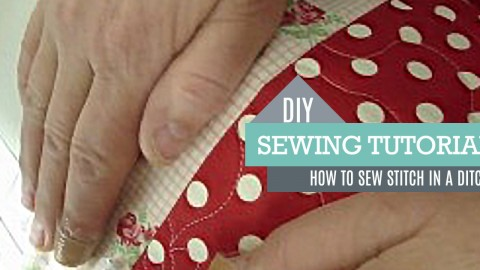 DIY Sewing Tutorial – Stitch in a Ditch | DIY Joy Projects and Crafts Ideas