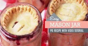Cherry Pies in Mason Jars