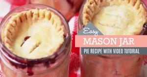 Cherry Pies in Mason Jars