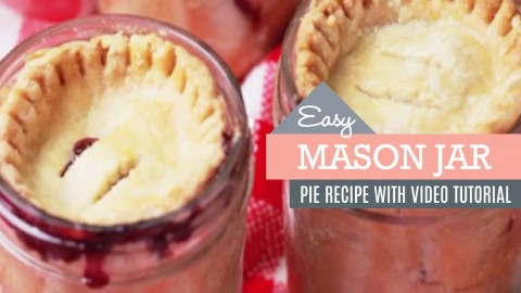 Cherry Pies in Mason Jars | DIY Joy Projects and Crafts Ideas