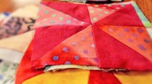 Learn How To Make This Quilt Block That Uses Fabric Scraps