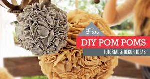 DIY: How to Make Party Pom Poms