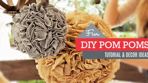 DIY: How to Make Party Pom Poms | DIY Joy Projects and Crafts Ideas