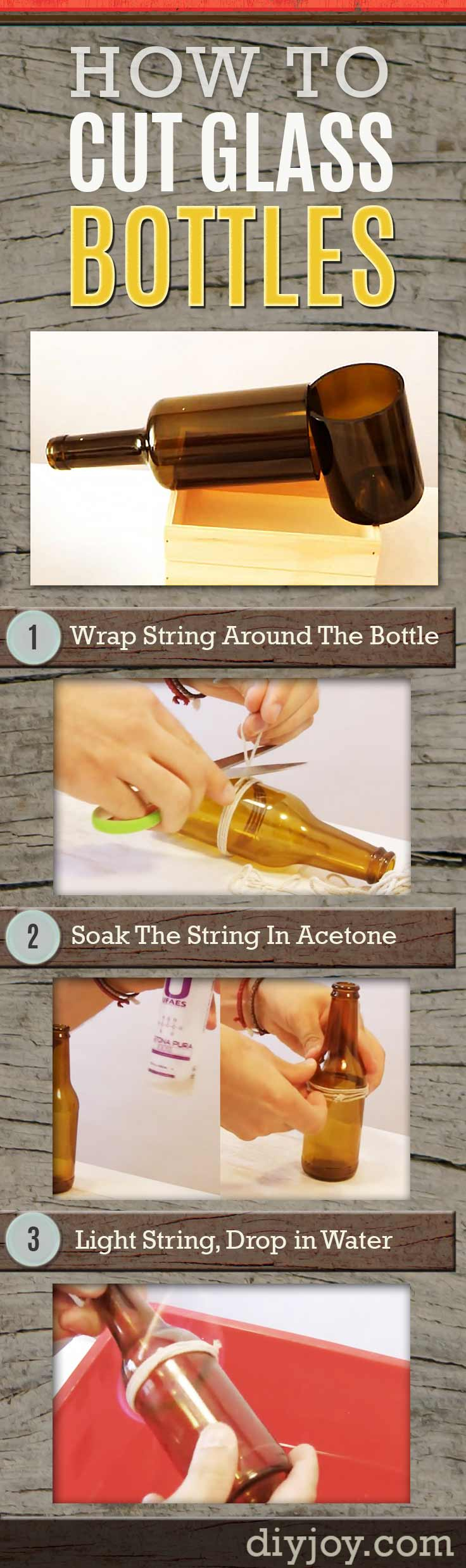 3 ways to cut glass bottles for How to cut a beer bottle at home