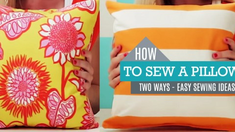 How to Make a Pillow | Basic Pillow and Pillow Sham | DIY Joy Projects and Crafts Ideas