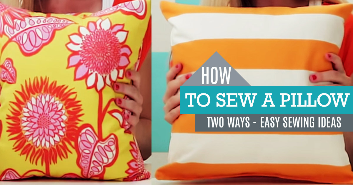 How To Sew A Pillow - DIY Sewing Projects and Ideas for DIY Pillows ...