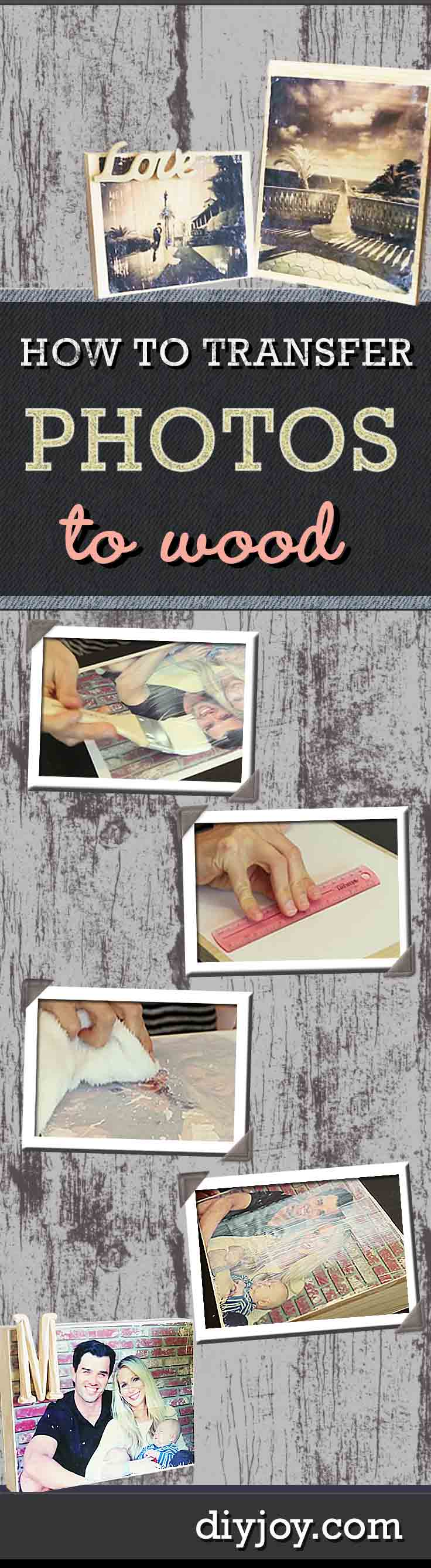 How to Transfer Photos to Wood   Easy Picture Framing Ideas for DIY Rustic Home Decor   DIY JOY Crafts and Gifts