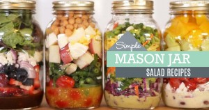 Mason Jar Salad Recipes – 4 Ideas for Salads In A Jar