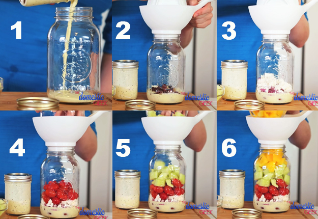 DIY Projects & Crafts by DIY JOY at http://diyjoy.com/mason-jar-salad-recipes-in-a-jar