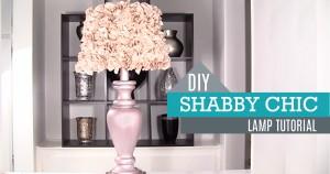 DIY Shabby Chic Decor – Lamp and Lamp Shade