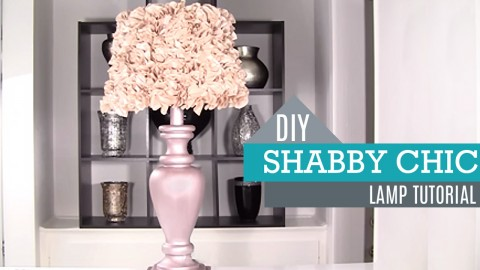 diy shabby chic decor lamp and lamp shade