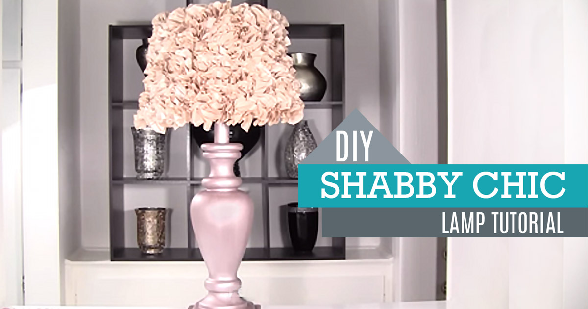 diy shabby chic decor lamp and lamp shade. Black Bedroom Furniture Sets. Home Design Ideas