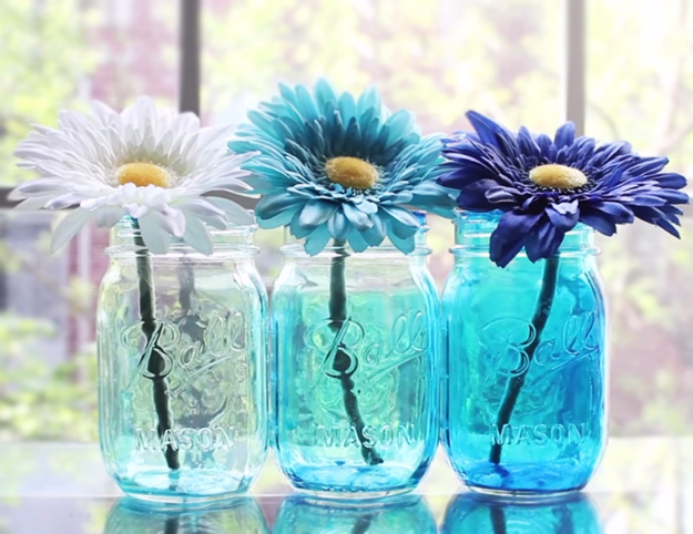 DIY Projects & Crafts by DIY JOY at http://diyjoy.com/easy-diy-projects-colored-mason-jars