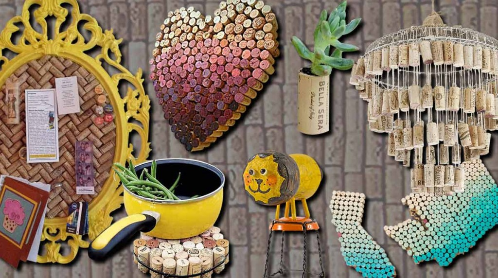Wine Cork Crafts Ideas - DIY Projects and Home Decor by DIY JOY at http://diyjoy.com/diy-wine-cork-crafts-craft-ideas