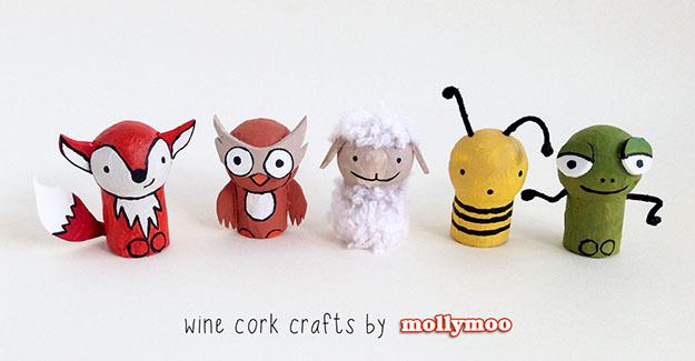 Easy DIY Wine Cork Craft Projects for Kids - DIY Wine Cork Pocket Pals - DIY Projects & Crafts by DIY JOY #crafts