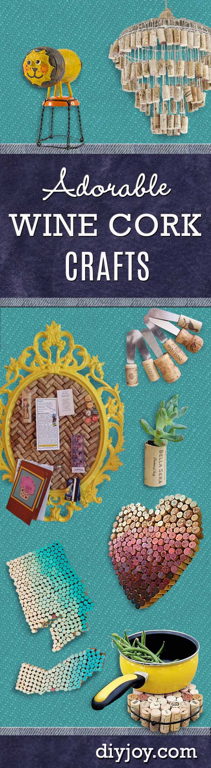 DIY Wine Cork Crafts | Cool DIY Projects and Crafts Ideas Made With Wine Corks
