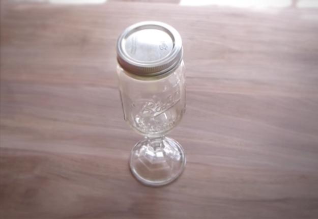 DIY Projects & Crafts by DIY JOY at http://diyjoy.com/mason-jar-crafts-redneck-wine-glasses