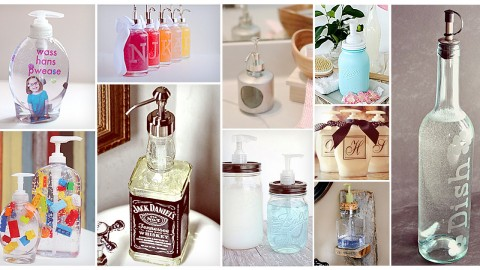 11 DIY Soap Dispensers to Dress Up Your Sink | DIY Joy Projects and Crafts Ideas