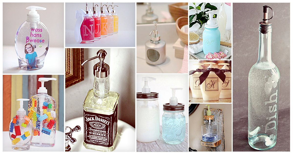 11 Diy Soap Dispensers To Dress Up Your Sink