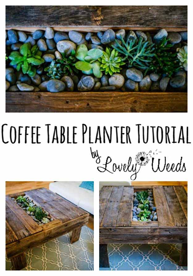 Easy DIY Furniture Ideas | Rustic DIY Home Decor | Cheap Coffee Table Ideas | DIY Projects and Crafts by DIY JOY #coffeetables #diyfurniture