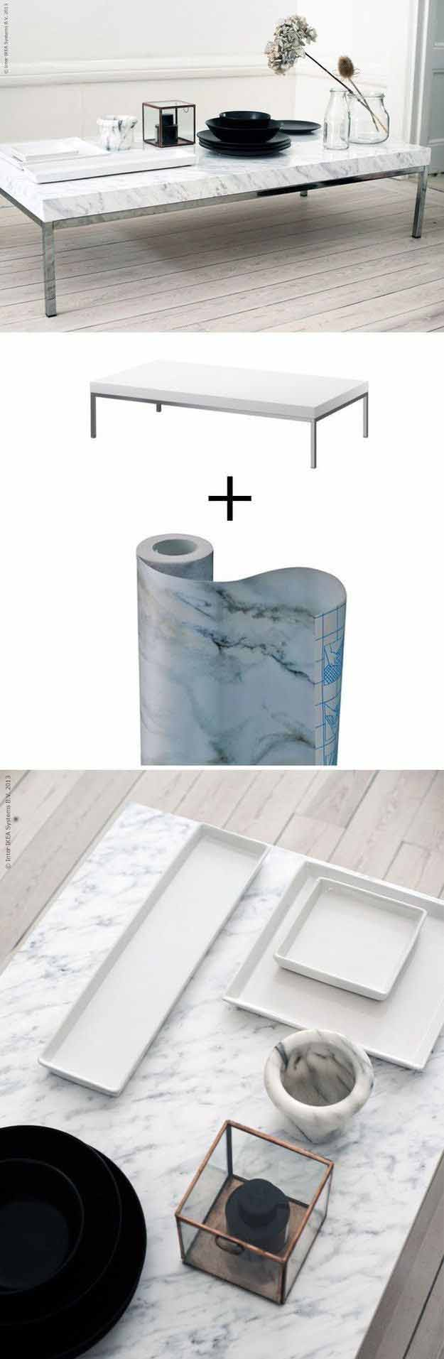 DIY Home Decor On a Budget | Easy Furniture Projects | Faux Marble DIY Coffee Table | DIY Projects and Crafts by DIY JOY #coffeetables #diyfurniture