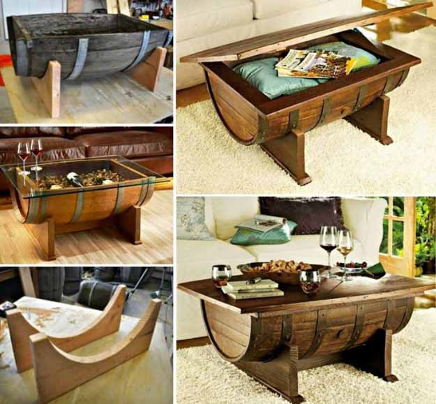 DIY Projects for the Home | Cheap and Easy Furniture Ideas | DIY Old Barrel Coffee Table | Projects and Crafts by DIY JOY #coffeetables #diyfurniture