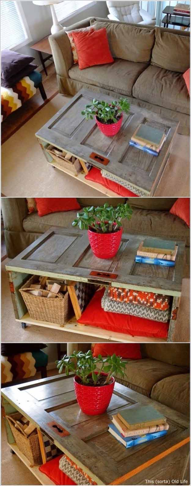 DIY Repurposed Furniture Projects | Easy Upcycling Ideas for the Home | DIY Coffee Table with Storage | DIY Projects and Crafts by DIY JOY #coffeetables #diyfurniture