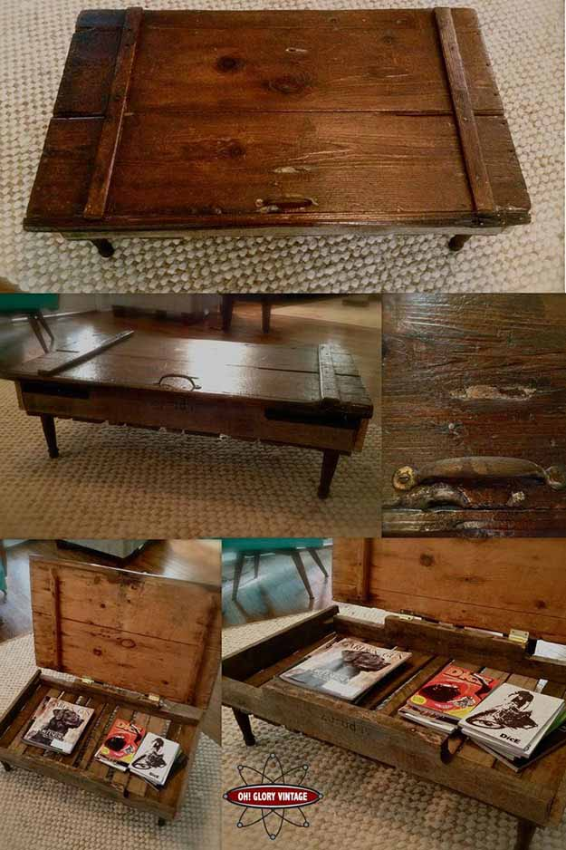 Easy DIY Furniture Projects | Upcycling Ideas with Repurposed Wood | DIY Coffee Table with Storage | DIY Projects and Crafts by DIY JOY #coffeetables #diyfurniture