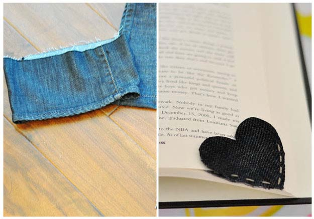 Simple Sewing Project for Beginnners   Denim DIY Bookmark from Old Jeans   DIY Projects & Crafts by DIY JOY
