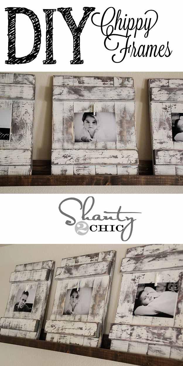 Rustic Home Decor | DIY Picture Frames #diy #crafts