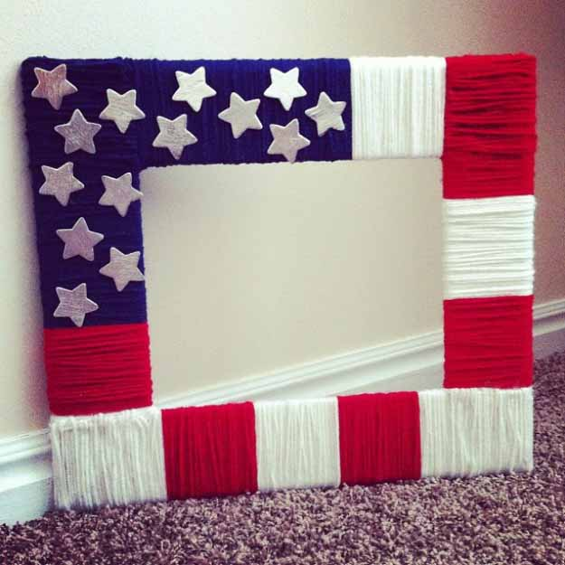 DIY Cheap and Easy Picture Frames | Craft Ideas with Yarn #diy #crafts