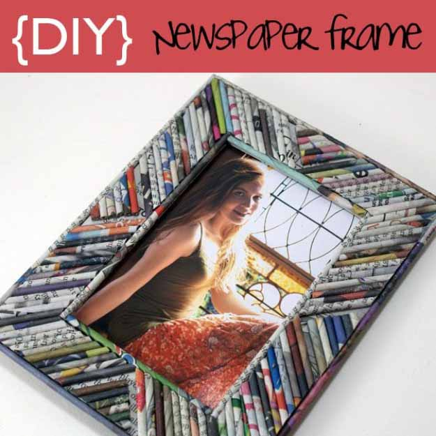 Upcycling Craft Ideas | Easy DIY Picture Frame Designs with Newspaper #diy #crafts
