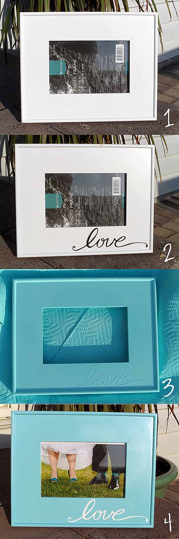 Easy Craft Ideas | DIY Picture Frame Home State Projects #diy #crafts