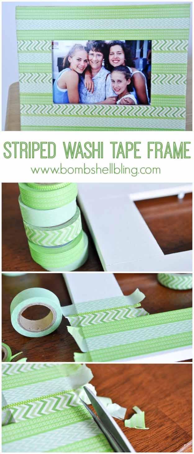 Washi Tape Craft Ideas | DIY Picture Frame Designs #diy #crafts
