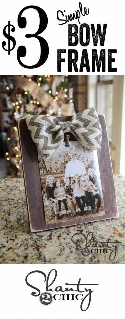 Upcycling Project Ideas | DIY Picture Frame with Burlap Bow #diy #crafts