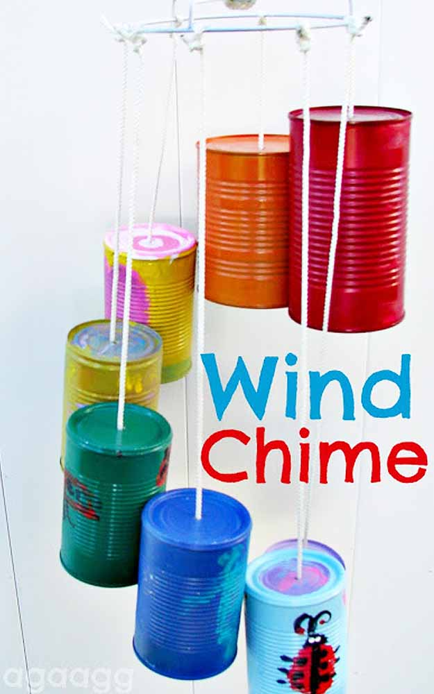 Fun Outdoors Kids Crafts - DIY Garden Ideas - DIY Wind Chime - DIY Projects & Crafts by DIY JOY at http://diyjoy.com/fun-outdoor-crafts-for-kids