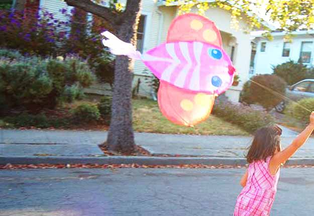 Outdoor Crafts for Kids - How To Make A Kite - Tutorial at http://diyjoy.com/fun-outdoor-crafts-for-kids
