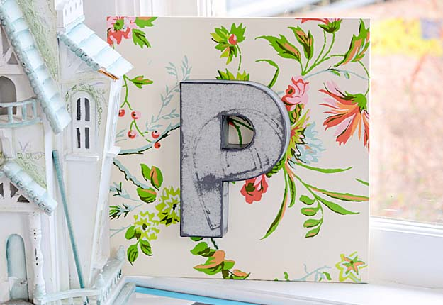 Fun DIY Projects for Teen Girls to Make for the Home - DIY Letters for Monogram Wall Decor - DIY Projects & Crafts by DIY JOY #diy #quickcrafts #crafts #easycraftss